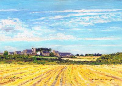 Saint Colomban à Carnac, oil on canvas, 33x22cm