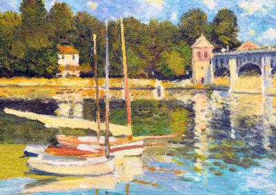 Argenteuil bridge 1874, Claude Monet 25x21cm