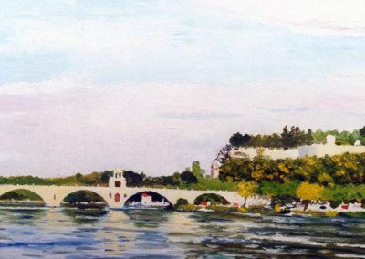 Pont saint Benezet, oil on canvas, 61x38cm