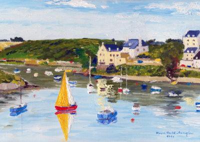 Belle-Ile, oil on canvas, 33x19cm