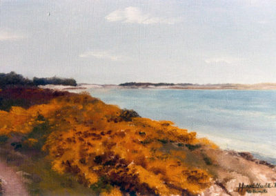 The Trinity on the sea Channel, customs path, oil on canvas, 46x27cm