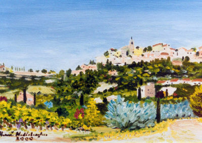 Gordes, oil on canvas, 27x19cm
