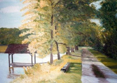 Chemin de La Logette, oil on canvas, 41x27cm