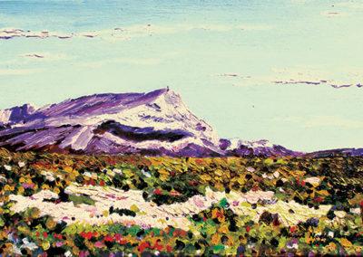 Sainte-Victoire mountain, chemin des lauves, oil on canvas, 46x33cm