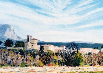 Venelles le Haut, oil on canvas, 33x22cm